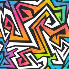 Spectrum Color Graffiti Seamle...