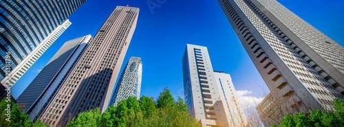高層ビル群のある都市風景のイメージ Canvas-taulu