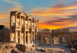 canvas print picture - Celsus Library at sunset in Ephesus ancient city -Selcuk,  Turkey
