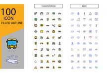 100 Icon Transportation And Ra...