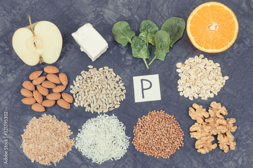 Products and ingredients containing vitamin P, fiber and minerals Wallpaper Mural