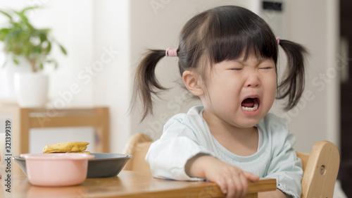 Fototapeta 子供 食事 嫌がる obraz