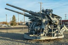 A Twin Anti-aircraft Gun On Di...