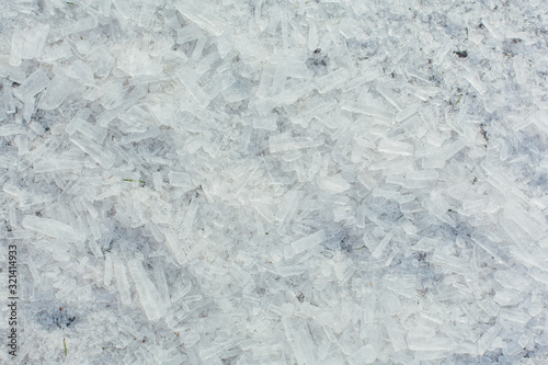 Photo Amazing abstract broken ice crystals texture