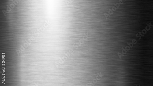 Fotomural Silver metal texture background illustration