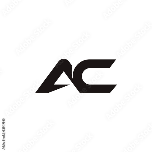 Photo Initial letter ac or ca logo design template