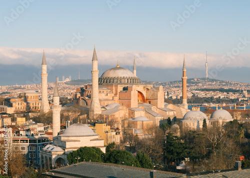 Slika na platnu Hagia Sophia Mosque In Sultanahmet Square, Istanbul, Turkey