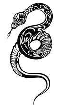 Snake Silhouette Illustration....