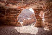 View From Inside A Tomb, Petra...