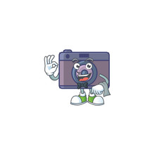 A Retro Camera Cartoon Mascot ...