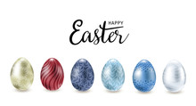 Easter Eggs Isolated On White ...