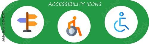 Photo accessibility icon set