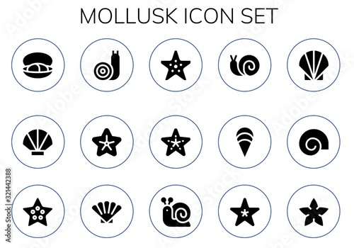 mollusk icon set Fototapet