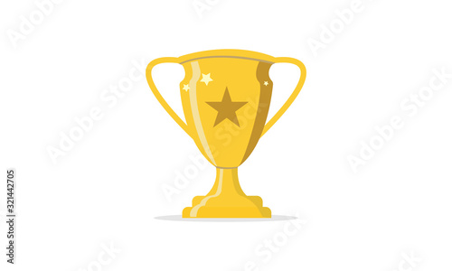 Valokuva golden trophy cup isolated on white background