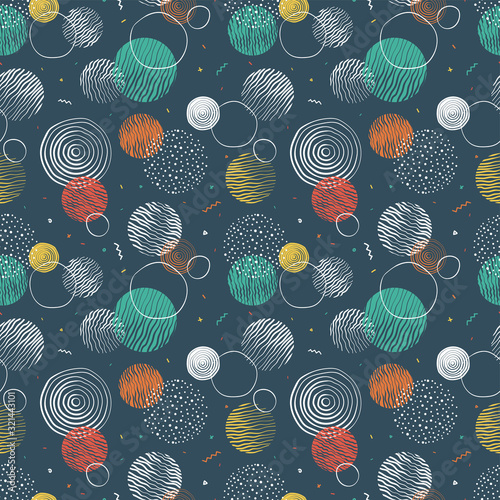 Fototapety Geometryczne   hand-drawn-doodle-circles-seamless-pattern-abstract-repeat-background-great-for-textiles