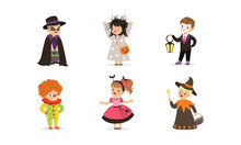 Cute Boys And Girls In Hallowe...