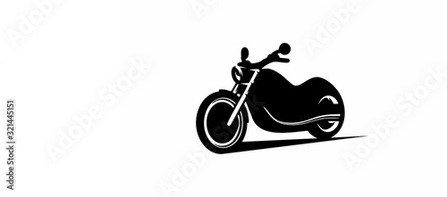 silhouette of motorcycle Fotobehang