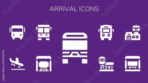 Photo arrival icon set