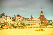 Hotel Del Coronado At Sunset In San Diego, CA