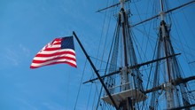 American Flag On Uss Constitut...