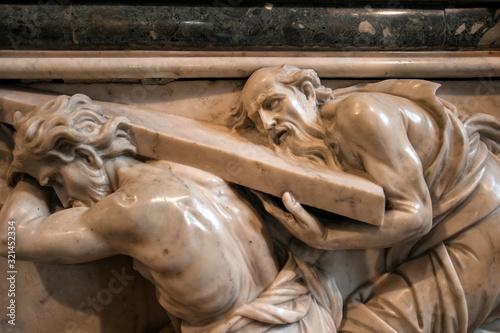 Photographie Tomb of Titian, Luigi Zandomeneghi, 1836-1852, at the church of Santa Maria Gloriosa dei Frari, carved in Carrara marble