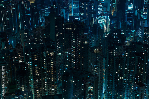 Hong Kong, city view from the peak Canvas Print