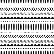 African Hand Drawn Vector Seam...