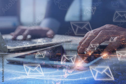 Papel de parede Email campaign, digital marketing