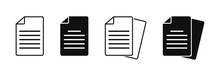 Document Vector Icon Isolated ...