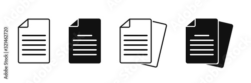 Obraz Document vector icon isolated vector graphic. Paper document page icon vector element. Agreement file symbol. - fototapety do salonu