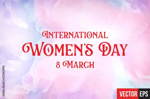 Fototapeta International womens day obraz na płótnie