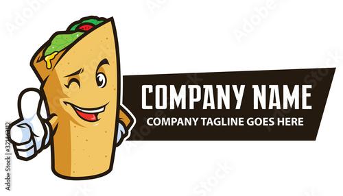 Fotografie, Obraz Food Wrap Mascot