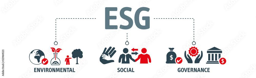 Fototapeta ESG concept of environmental, social and governance
