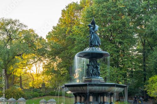Bethesda Fountain in Central Park. New York City Canvas Print