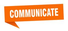 Communicate Speech Bubble. Com...