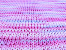 Pink Knitted Fabric Texture