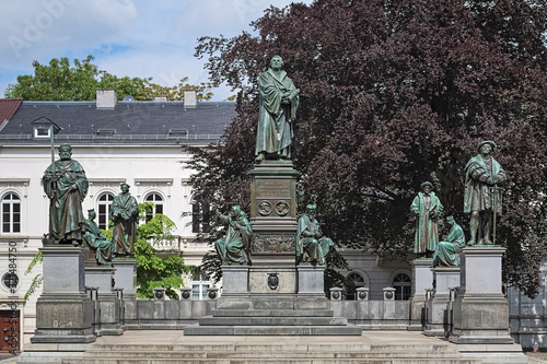 Photo Martin Luther Monument in Worms, Germany