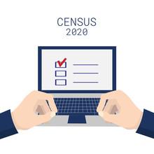 Population Census 2020. Hands ...