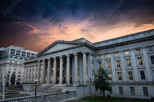 Exterior of United States Department of Treasury Canvas Print