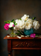 Still Life With White Peonies ...