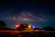 Reliant Cars With The Milky Way