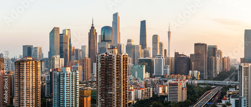 Guangzhou city skyline Canvas Print