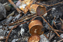 Corroded And Rusty Metallic Co...