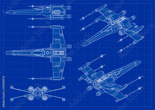 X-wing fighter model Canvas Print