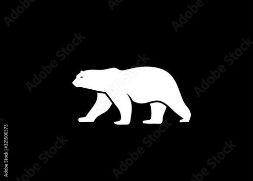 Fotografia polar bear vector silhouette vector illustration,  polar bear logo vector  Isolated on white background