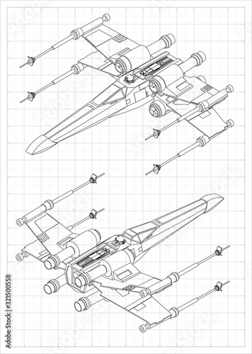 Photo X-wing fighter model