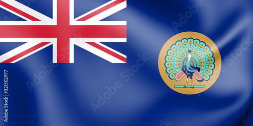 3D Flag of British Burma (1937-1948). 3D Illustration. Canvas-taulu
