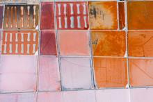 Aerial Image Of Colorful Salt ...
