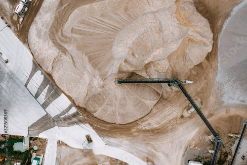 Aerial view of cement plant - 321508369