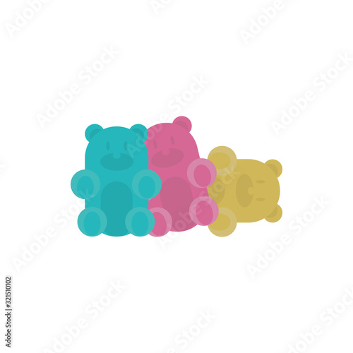 Foto Isolated sweet gummi bears vector design
